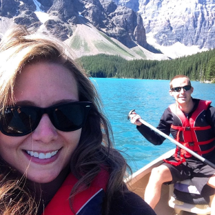 Canoeing Moraine Lake Banff, Canada