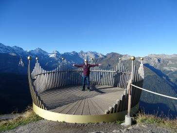 Männlichen Royal Walk gold crown views Switzerland Wengen mountains Alps