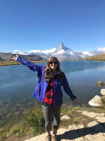 Stellisee Matterhorn Zermatt Switzerland 5 Lakes Walk hike lake Sunnegga