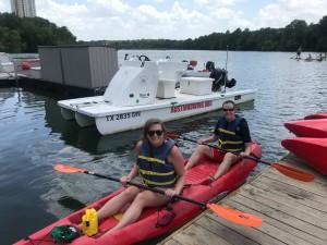 Colorado River kayak Austin, TX tandem paddle